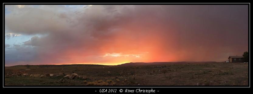 sunset sur la route 66